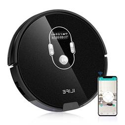 ILIFE A7 Robotic Vacuum Cleaner with High Suction, LCD Displ