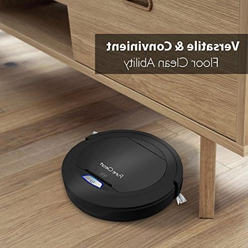 PureClean Automatic Robot Cleaner - Home Cleaning Carpet Floor - Bot Detects - Hair Allergies Friendly - PUCRC26B