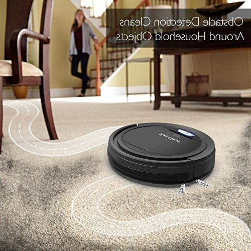 PureClean Cleaner Robotic Home Cleaning for Carpet Hardwood Bot Self Detects - Filter Hair Allergies Friendly - PUCRC26B