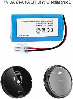 For ILIFE A4 A6 14.8V 2800mAh Cleaner