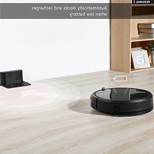 DEIK Robotic Vacuum with Cleaning, Self-Charging, Anti-Drop & Filter, 5 Cleaning for Hair, Floor