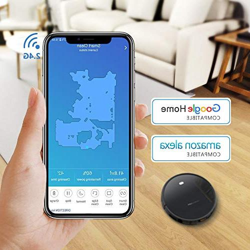with Smart Mapping System, App Controls, Pet Hair Care, Self-Charging for Floors Thin
