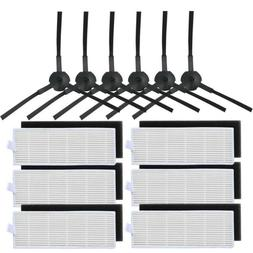 Side Brush HEPA Filter Replacement Kits For ILIFE A4 A4s Rob